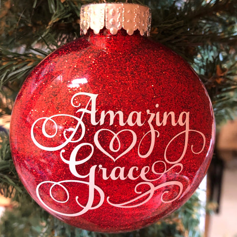 Holiday Christmas Tree Ornament Amazing Grace