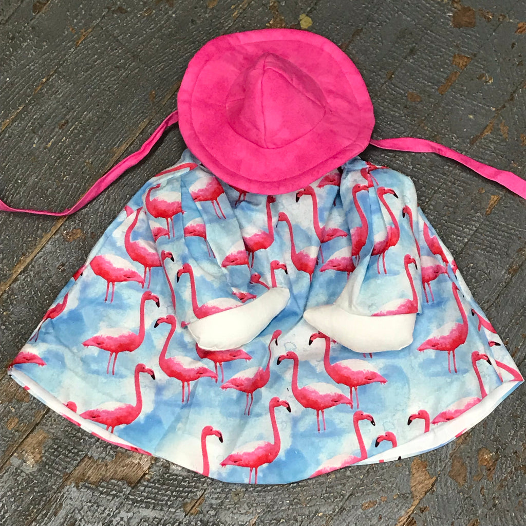 Goose Clothes Complete Holiday Goose Outfit Pink Flamingo Dress and Hat