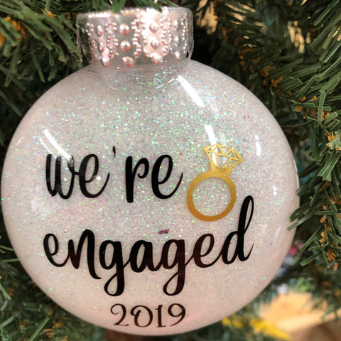 Holiday Christmas Tree Ornament We're Engaged
