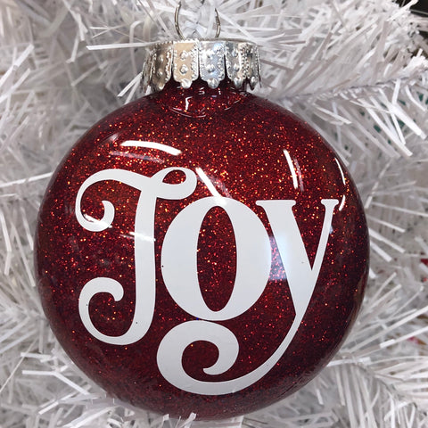 Holiday Christmas Tree Ornament Joy