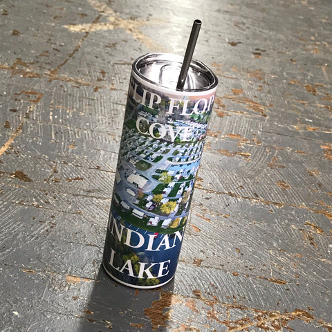 Tumbler Indian Lake Ohio Flip Flop Cove Tall Skinny Color Kevin Campbell