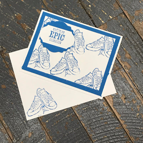 Epic Celebration Shoes Handmade Stampin Up Greeting Card with Envelope