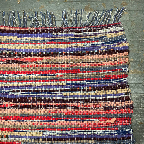 #94 Desert Sunset Rag Weaved Table Runner Rug by Dennis