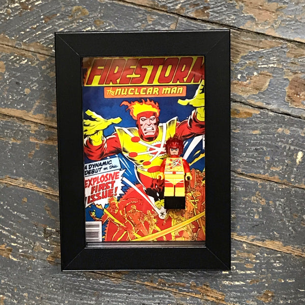 Firestorm Nuclear Man DC Comics Lego Figurine Wall Display Picture Frame Toy Art