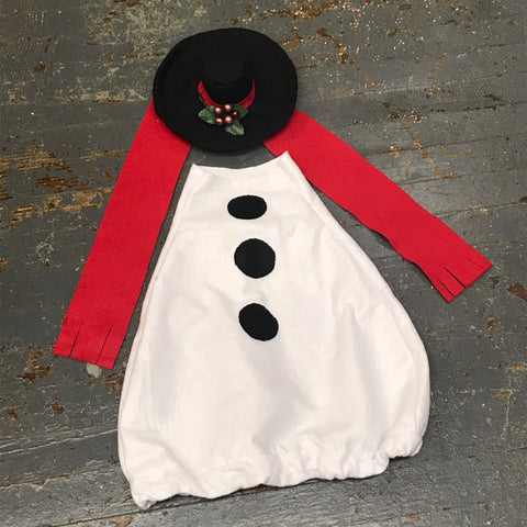 Goose Clothes Complete Holiday Goose Outfit Winter Frosty Snowman Dress and Hat
