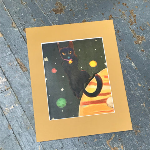 Matte Print of Courtney Lynn Art Galaxy Space Kitty Cat