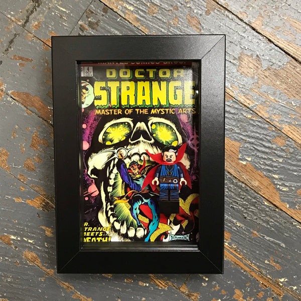 Doctor Strange Comics Lego Figurine Wall Display Picture Frame Toy Art