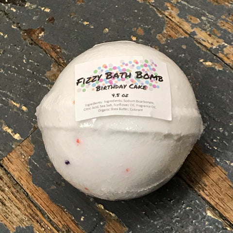 Birthday Cake Fizzy 4.5oz Bath Bomb