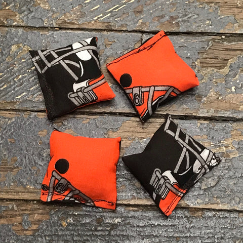 Cornhole Toss Bean Bag Set of 4 Mini Tabletop Bags Football Cleveland Browns