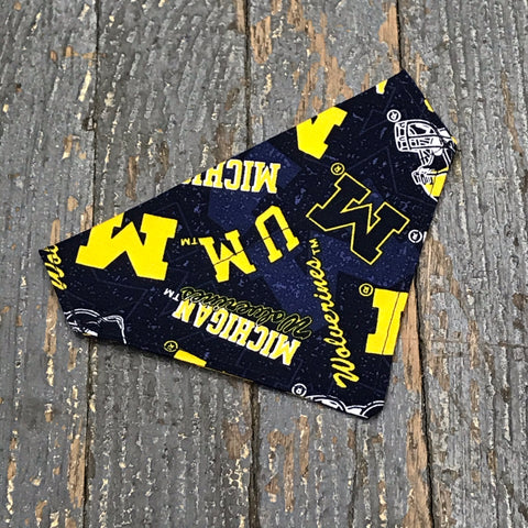Michigan Wolverines Dog Collar Pet Bandanna Neck Scarf X-Small