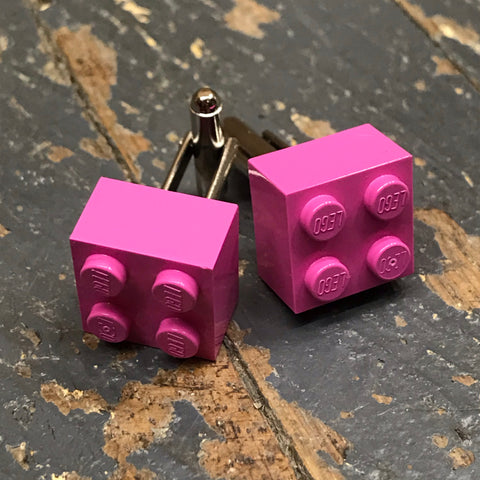 Lego Brick 2x2 Block Pink Cuff Links Wedding Groom Suit Tux