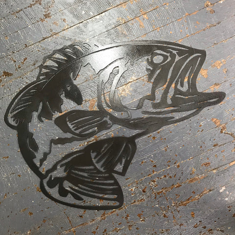 Fish Metal Sign Wall Hanger