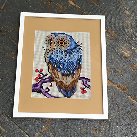 Framed Matte Poppy Dot Owl of Courtney Lynn Art