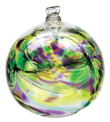 Hand Blown Glass Ornament Globe May Birthday Orb Ball by Kitras Art Glass
