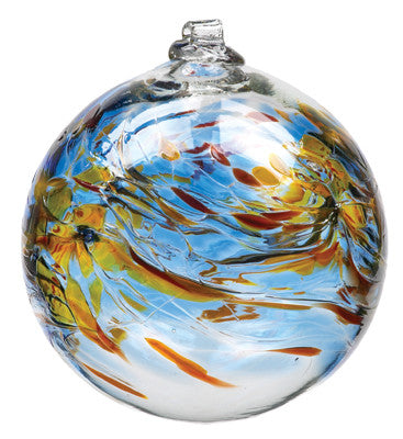 Hand Blown Glass Ornament Globe November Birthday Orb