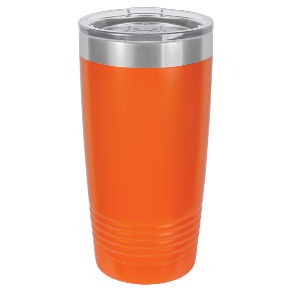 Stainless Steel 20oz Wine Beverage Drink Travel Tumbler Orange
