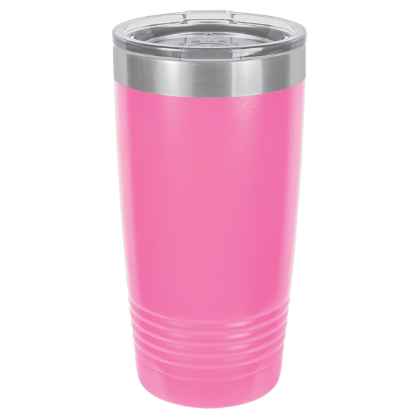 Stainless Steel 20oz Wine Beverage Drink Travel Tumbler Pink