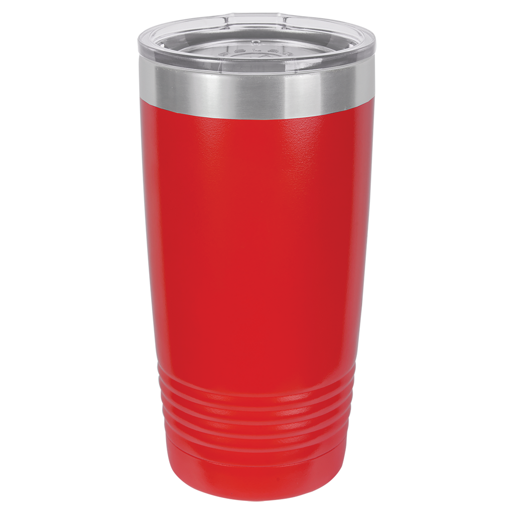 Stainless Steel 20oz Wine Beverage Drink Travel Tumbler Red