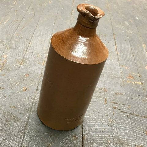 Antique 1800's Large Stoneware Stephens London Ink Well Chemical Ink Bottle
