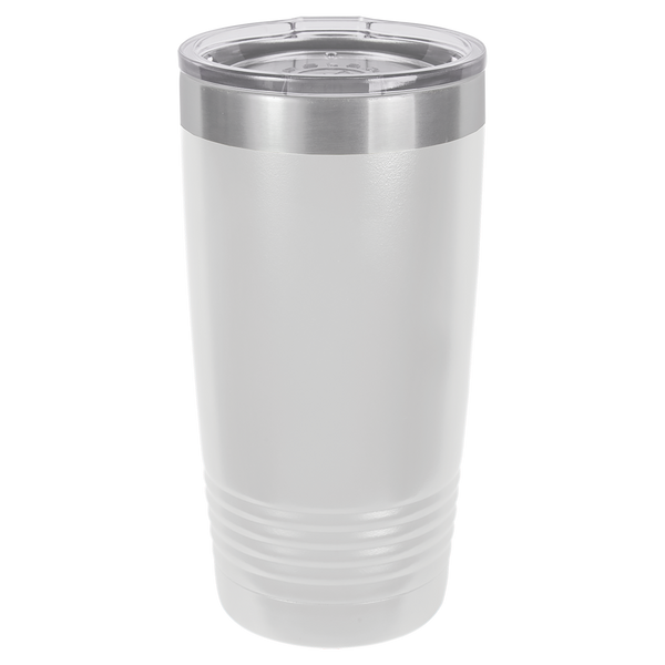 Stainless Steel 20oz Wine Beverage Drink Travel Tumbler White