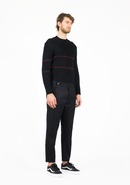High neck ribbed merino jumper
