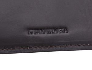 Kumumea Leather Bi-Fold Wallet