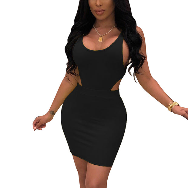Sleeveless Sexy Mini Ladies Bodycon Dress