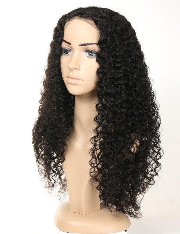 16-28 Inch Natural Full Lace Deep Curly Wig