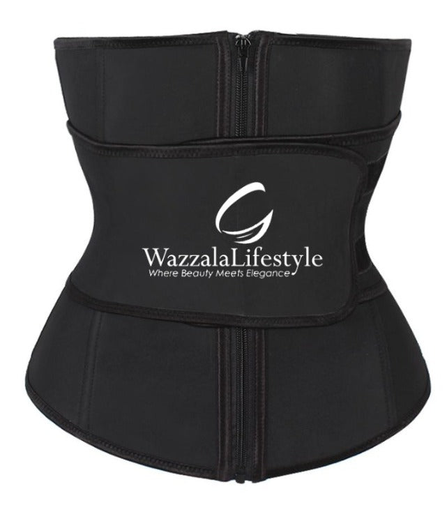 Compression Belt Punching Design Slimming Tummy Control Latex Waist Cincher Shapewear - WazzalaLifestyle