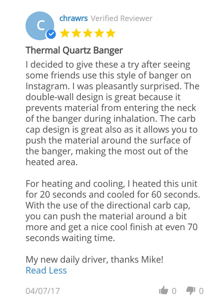 Thermal Quartz Banger Review