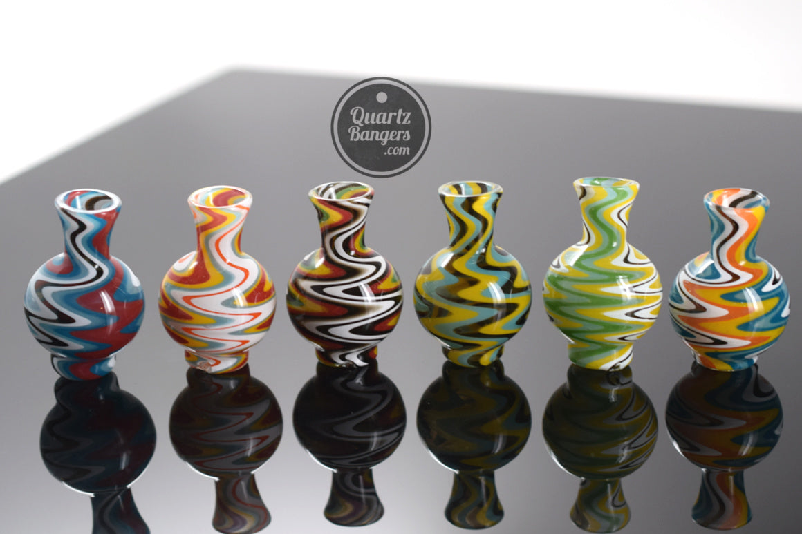 AFM Glass - Wig Wag Terp Spinner Bubble Carb Cap w/ 2 Terp Peals | Asst. Colors