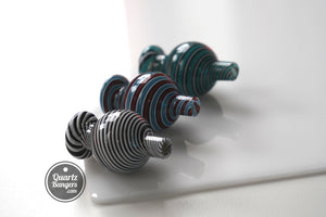 QuartzBangers.com Pro-Series Swirl Bubble Cap (Asst. Colors)