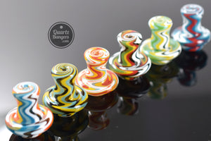 AFM Glass - Wig Wag Terp Spinner Carb Cap w/ 2 Terp Peals