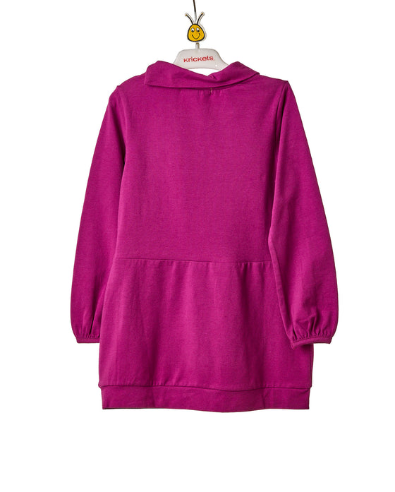 Girls Purple Long Sleeve Short Dress Tunic