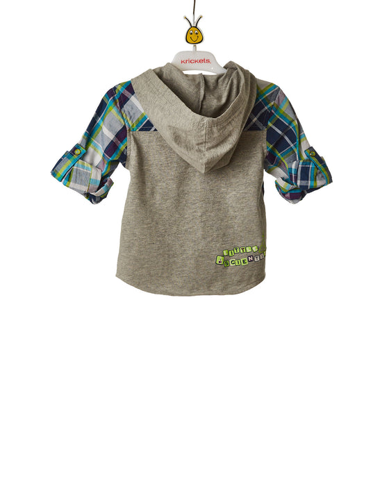 Boys Button Down Shirt With Hoodie