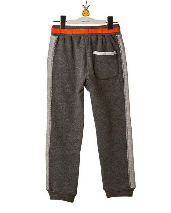 Boys Charcoal Grey Stretch Sweatpants