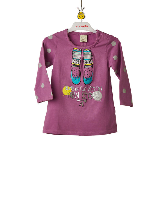 Girls Pink Tunic With Glitter