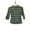 Girls Striped Mock Neck Top