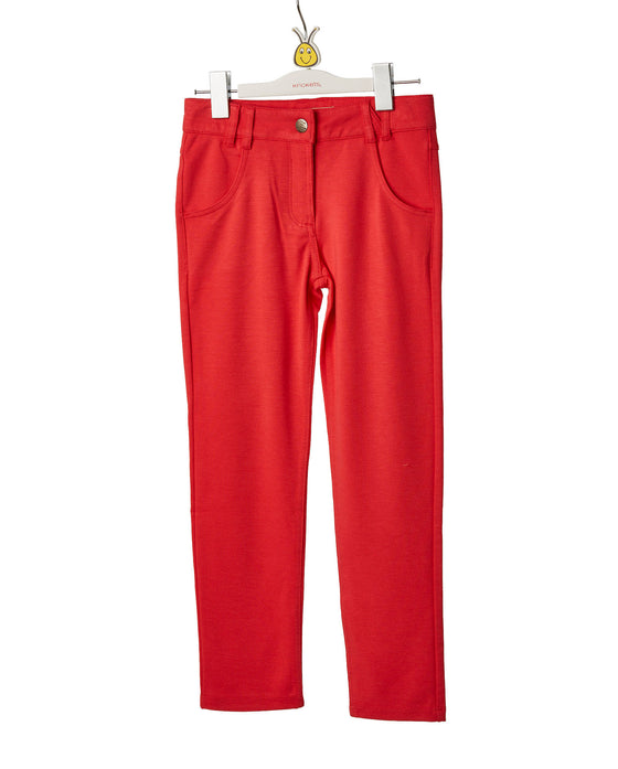 Girls Red Skinny Pant