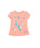 Girls Peach Screenprint Top
