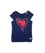 Girls Navy Blue Screen Print Top