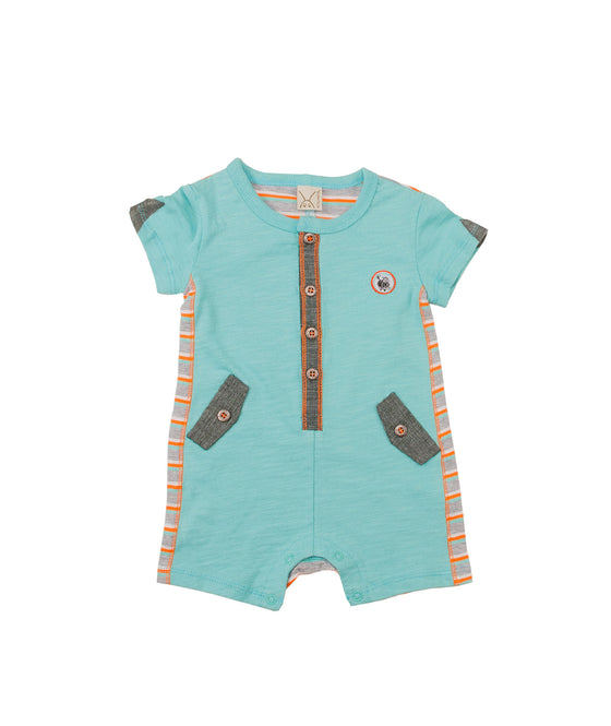 Baby Boys Button Jumper