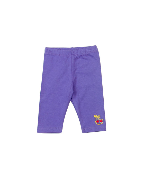 Girls Capri Legging In Purple