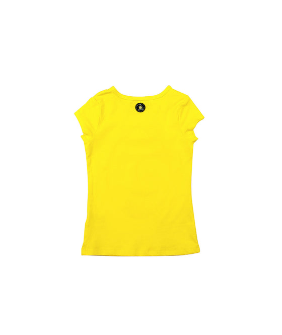 Girls Yellow Printed Top