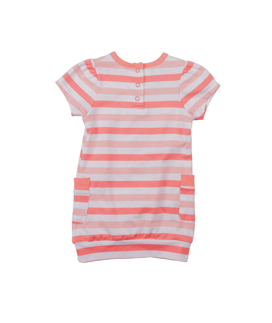 Girls Pink and White Striped Tunic