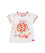 Girls White Flower Print Top