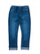 Boys Med Blue denim 5 pocket pant with cuff