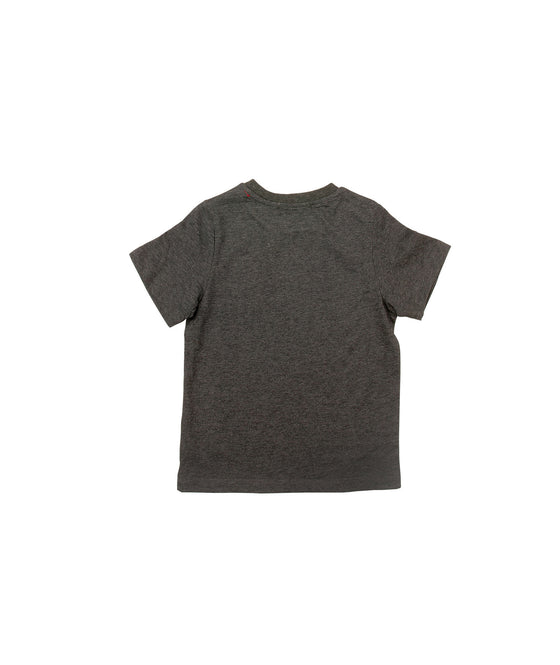 Boys Jersey Charcoal Top w/Screen Print