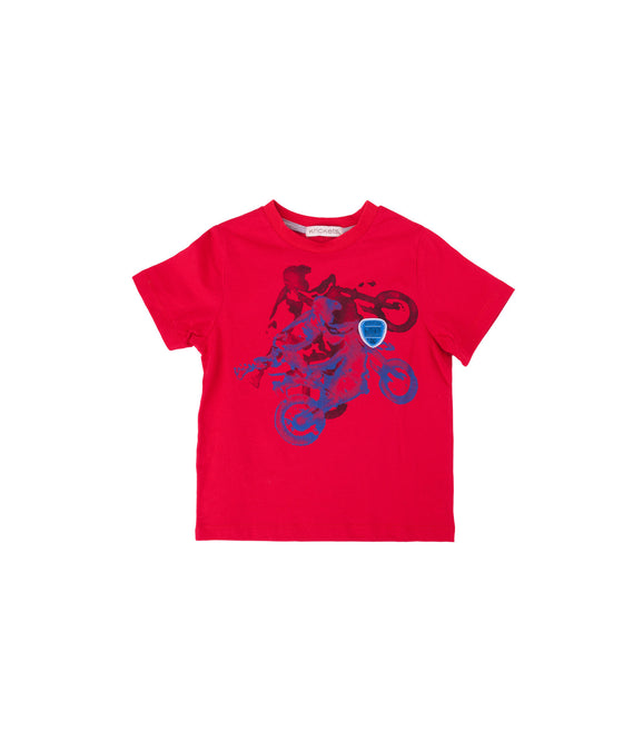 Boys Jersey Tango Red Top w/Screen Print