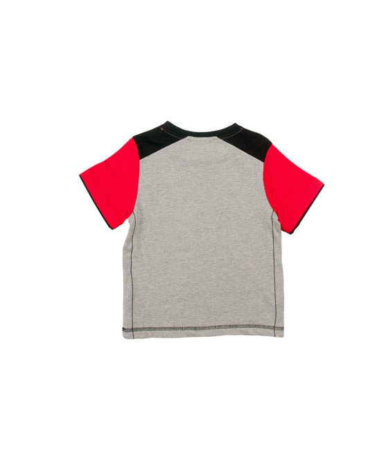 Boys jersey top w/screen & embrodery